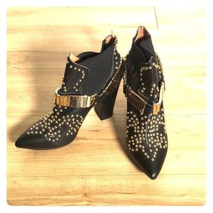 Jeffery Campbell Gold Studded Booties